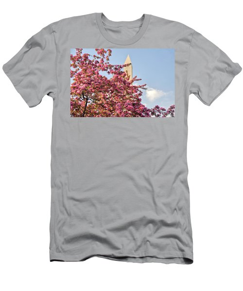 Cherry Trees And Washington Monument One Men's T-Shirt (Athletic Fit)
