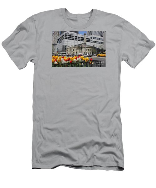 Chicago At Spring Time Men's T-Shirt (Athletic Fit)