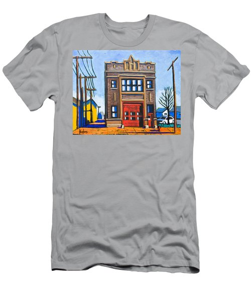 Chicago Fire Station Men's T-Shirt (Athletic Fit)
