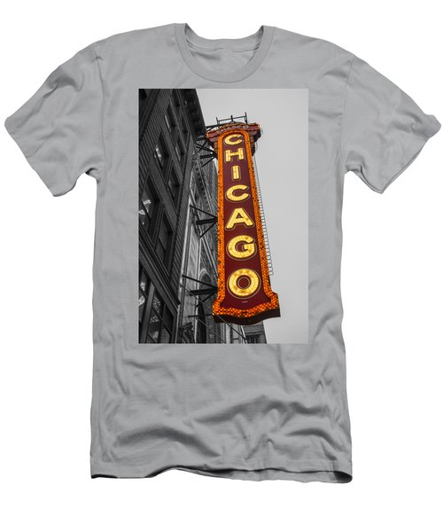 Chicago Theater Selective Color Men's T-Shirt (Athletic Fit)