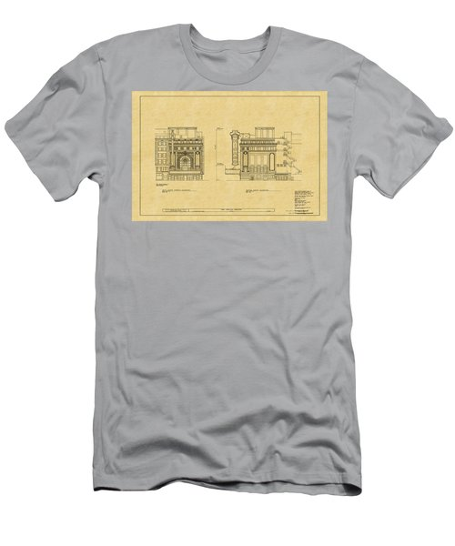 Chicago Theatre Blueprint 2 Men's T-Shirt (Athletic Fit)