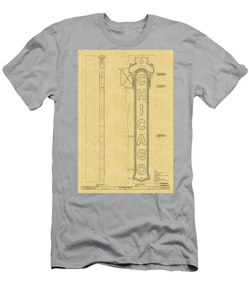 Chicago Theatre Blueprint Men's T-Shirt (Athletic Fit)
