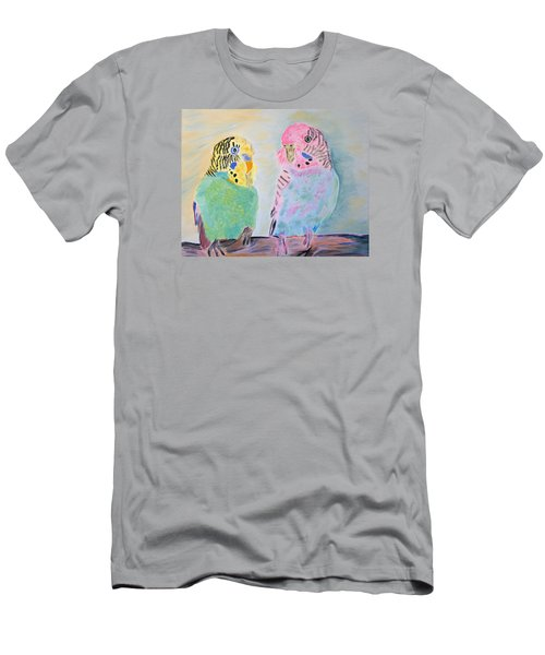 Childhood Parakeets Men's T-Shirt (Athletic Fit)