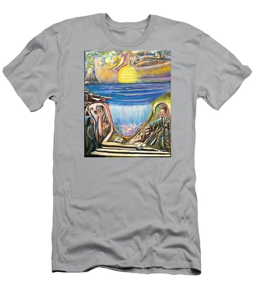 Children Walking On The Sun And Visiting Earth Men's T-Shirt (Athletic Fit)
