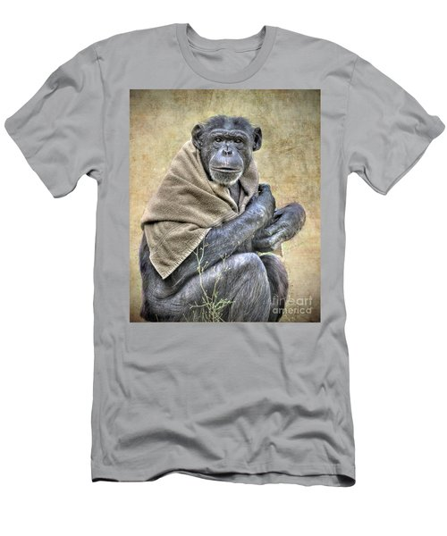 Men's T-Shirt (Slim Fit) featuring the photograph Chimpanzee by Savannah Gibbs