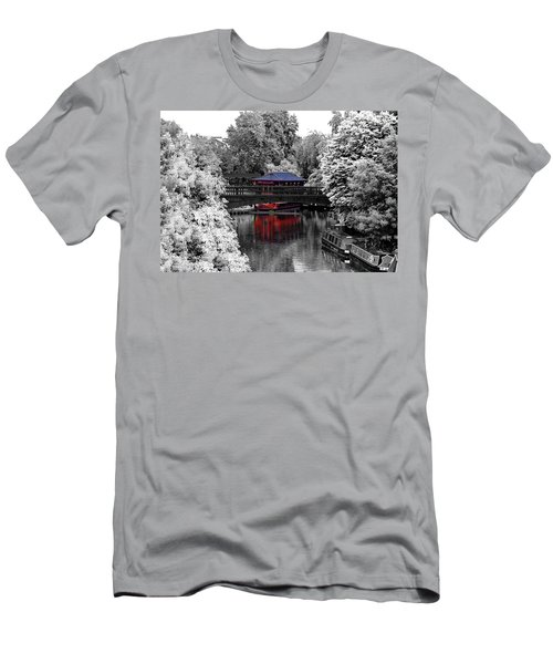 Chinese Architecture In Regent's Park Men's T-Shirt (Slim Fit) by Maj Seda