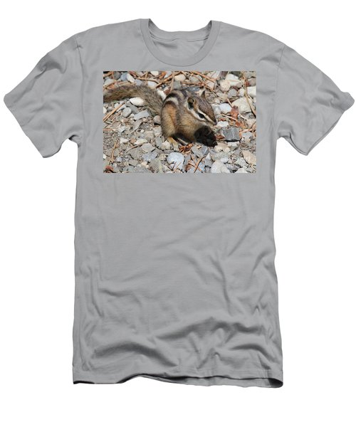 Men's T-Shirt (Athletic Fit) featuring the photograph Chipmunk by Ann E Robson