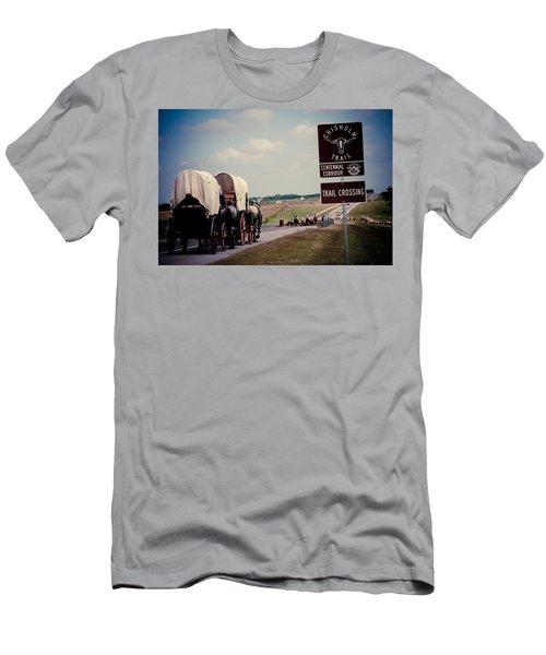 Chisholm Trail Centennial Cattle Drive Men's T-Shirt (Slim Fit) by Toni Hopper