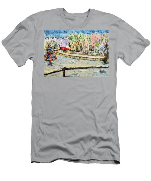 Christmas At Cissy's Farm Men's T-Shirt (Athletic Fit)
