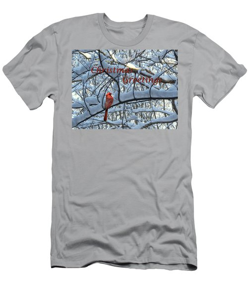 Men's T-Shirt (Slim Fit) featuring the photograph Christmas Card - Christmas Greeting by Larry Bishop