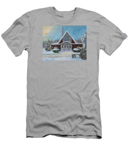 Christmas Morning At Our Lady's Church Men's T-Shirt (Slim Fit) by Rita Brown