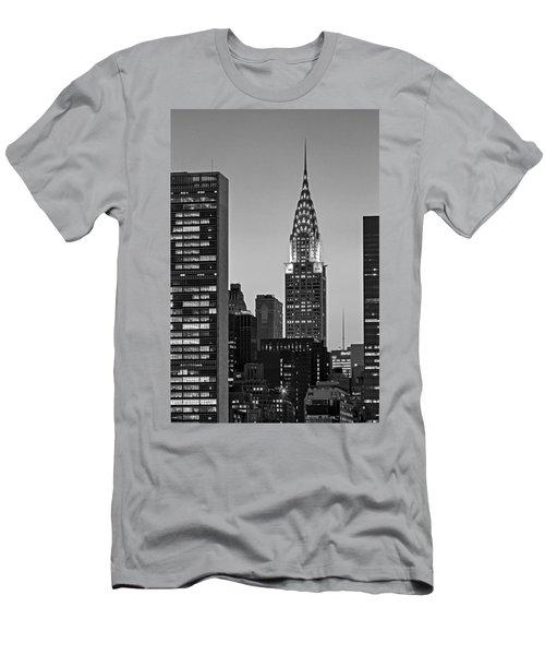 Chrysler Building New York City Bw Men's T-Shirt (Athletic Fit)
