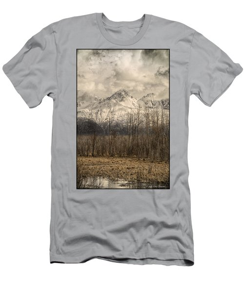 Chugach Mountains In Storm Men's T-Shirt (Athletic Fit)