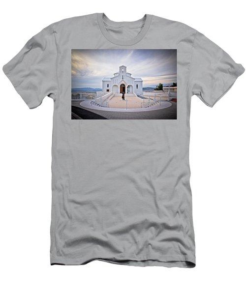 Church Of Croatian Martyrs In Udbina Men's T-Shirt (Athletic Fit)