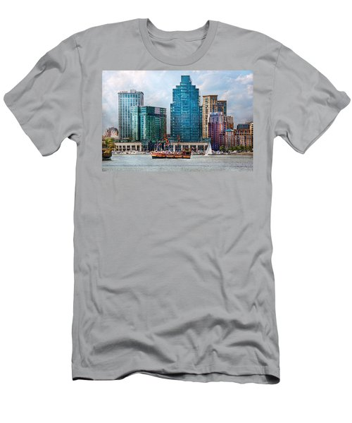 City - Baltimore Md - Harbor East  Men's T-Shirt (Athletic Fit)
