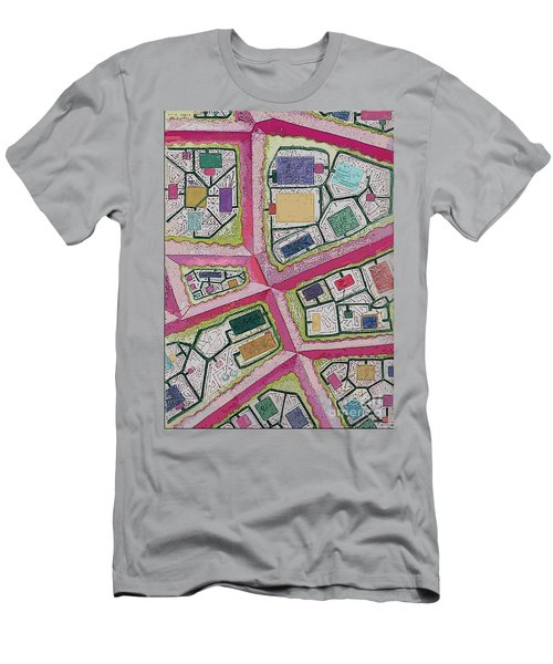 Men's T-Shirt (Slim Fit) featuring the digital art City Circuits by Carol Jacobs