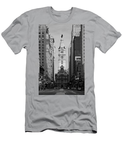 City Hall B/w Men's T-Shirt (Athletic Fit)