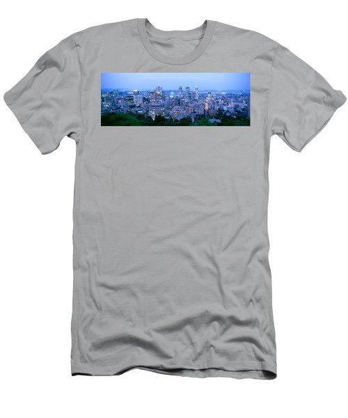 Cityscape At Dusk, Montreal, Quebec Men's T-Shirt (Athletic Fit)