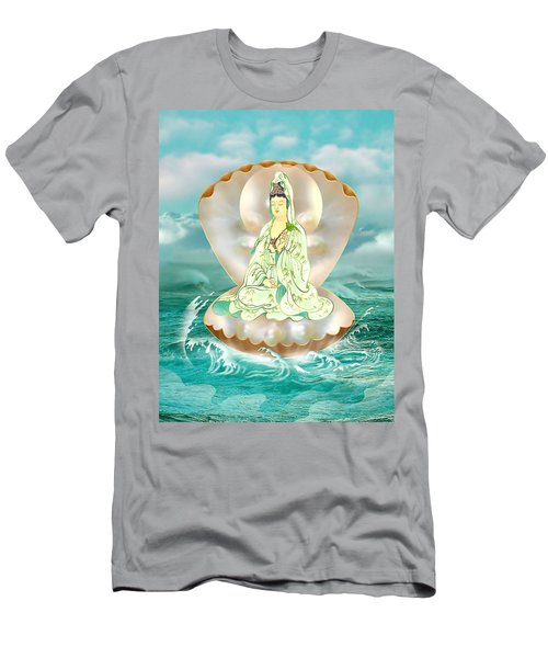 Clam-sitting Kuan Yin Men's T-Shirt (Athletic Fit)