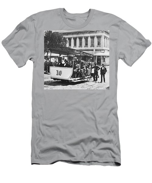 Clay Street Cable Car Men's T-Shirt (Athletic Fit)