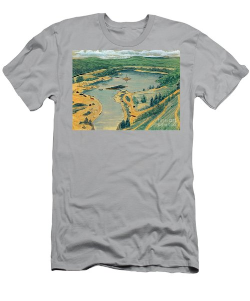 Men's T-Shirt (Slim Fit) featuring the painting Clearwater Lake Early Days by Kip DeVore