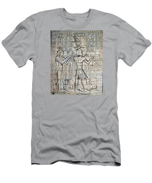 Cleopatra And Caesarion Men's T-Shirt (Slim Fit) by Leena Pekkalainen