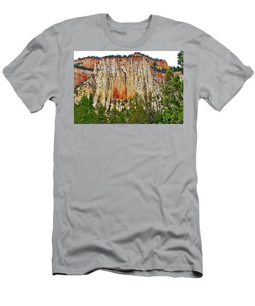Cliffs Near Checkerboard Mesa Along Zion-mount Carmel Highway In Zion National Park-utah Men's T-Shirt (Athletic Fit)