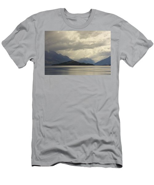 Men's T-Shirt (Slim Fit) featuring the photograph Clouds Over Wakatipu #2 by Stuart Litoff