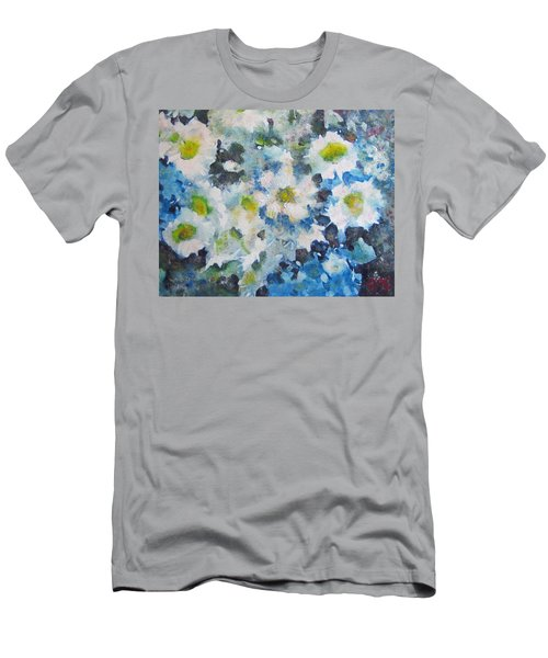 Men's T-Shirt (Slim Fit) featuring the painting Cluster Of Daisies by Richard James Digance