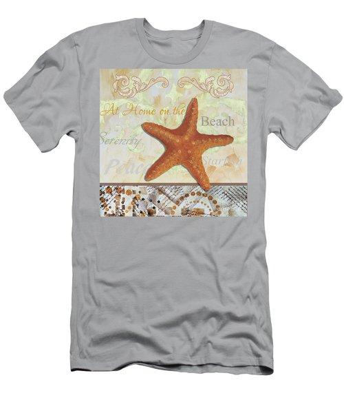 Coastal Decorative Starfish Painting Decorative Art By Megan Duncanson Men's T-Shirt (Athletic Fit)