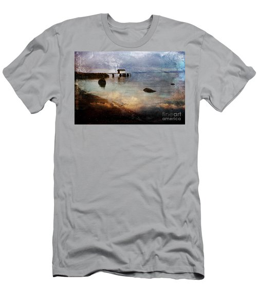 Coastal Path Men's T-Shirt (Slim Fit) by Randi Grace Nilsberg