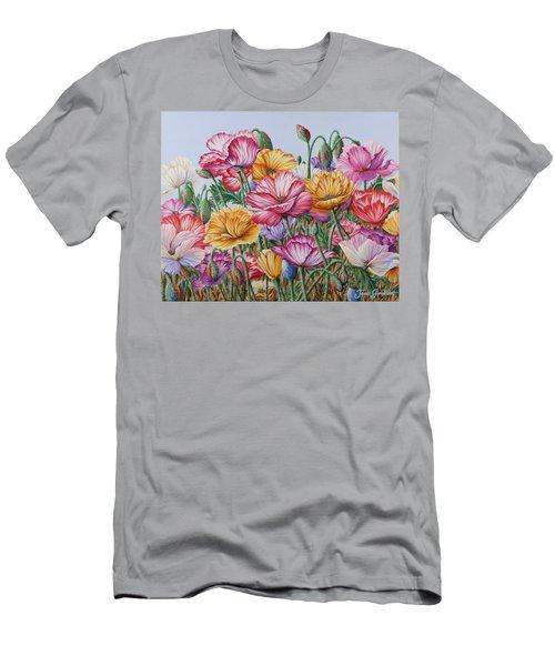 Coastal Poppies Men's T-Shirt (Athletic Fit)