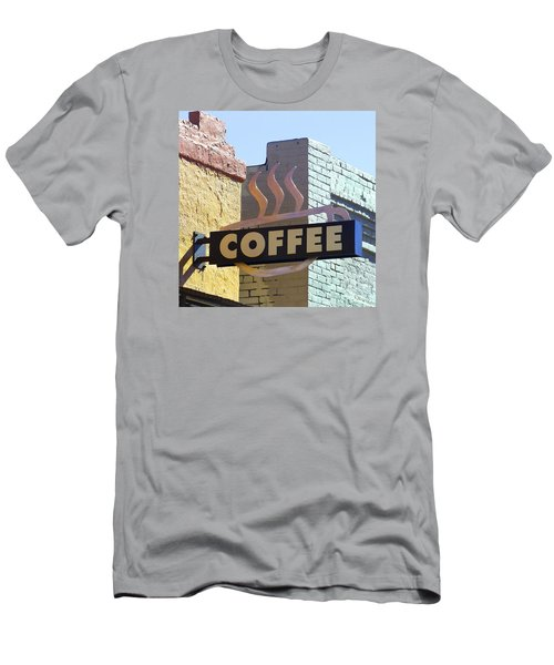 Coffee Shop Men's T-Shirt (Slim Fit) by Art Block Collections