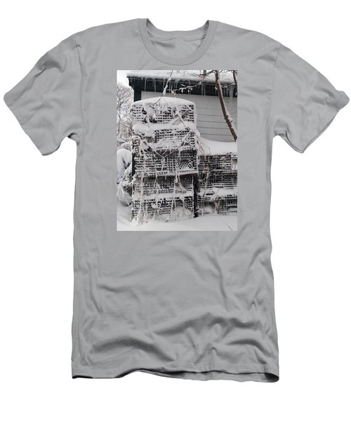 Men's T-Shirt (Slim Fit) featuring the photograph Cold Lobster Trap by Robert Nickologianis