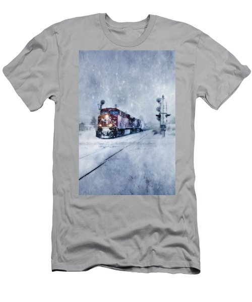Cold Nights On The Midnight Train Color Men's T-Shirt (Athletic Fit)