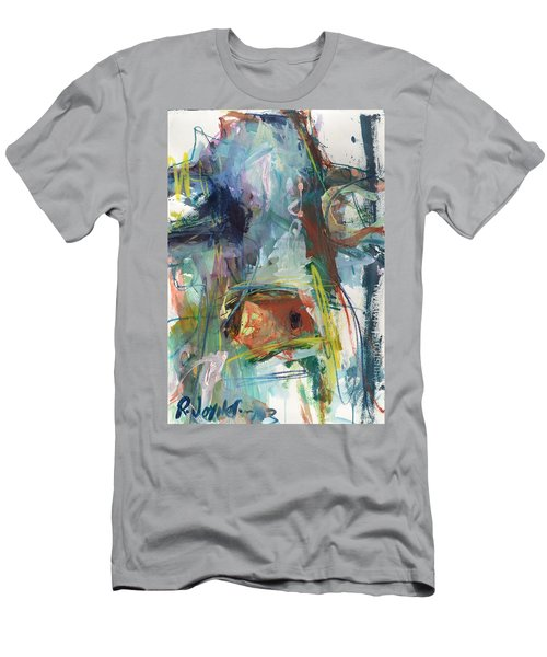 Colorful Cow Print Men's T-Shirt (Athletic Fit)