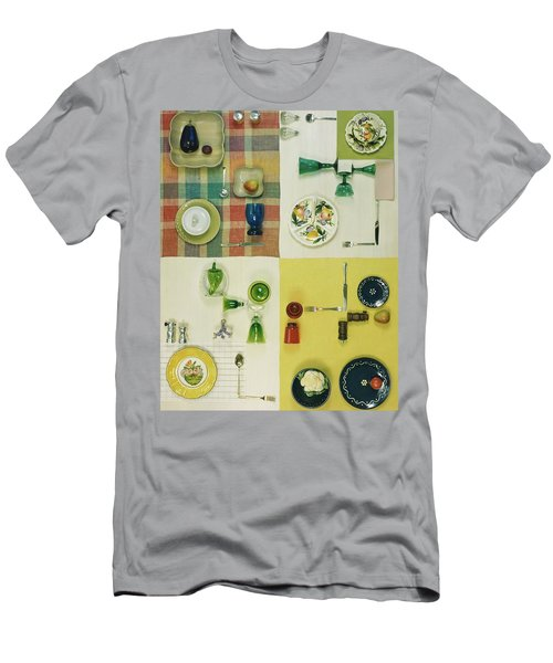 Colourful Table Settings Men's T-Shirt (Athletic Fit)