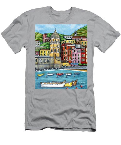 Colours Of Vernazza Men's T-Shirt (Athletic Fit)