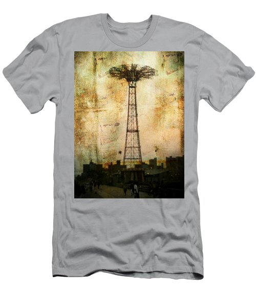 Coney Island Eiffel Tower Men's T-Shirt (Athletic Fit)