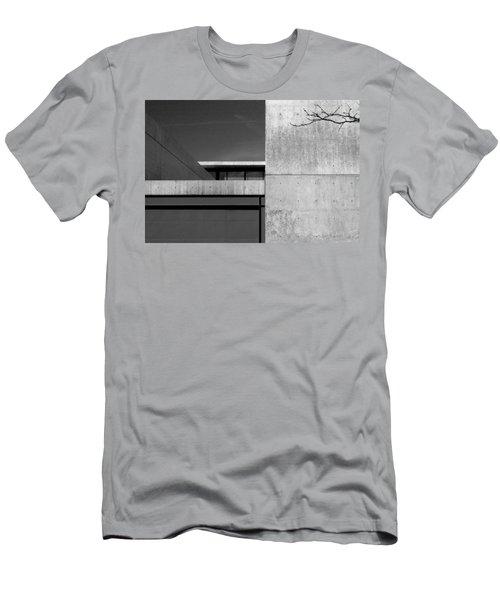 Contemporary Concrete Block Architecture Tree Men's T-Shirt (Athletic Fit)