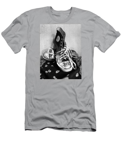 Men's T-Shirt (Slim Fit) featuring the photograph Converse Graffiti by Shawna Rowe