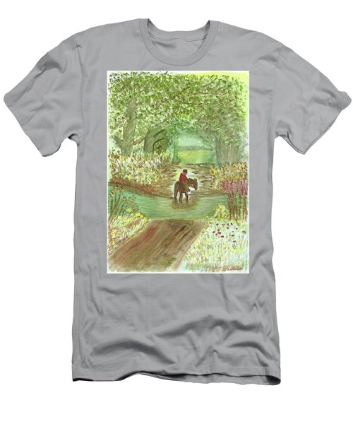 Men's T-Shirt (Slim Fit) featuring the painting Cooling Off by Tracey Williams