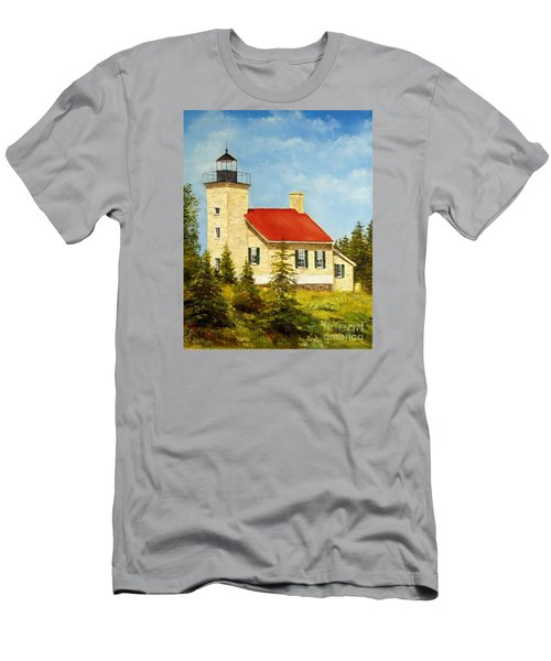 Copper Harbor Lighthouse Men's T-Shirt (Slim Fit) by Lee Piper