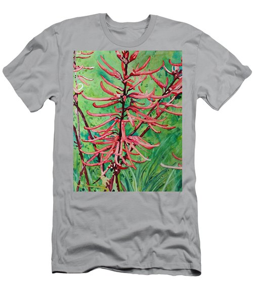 Coral Bean Flowers Men's T-Shirt (Athletic Fit)