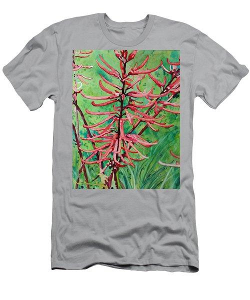 Coral Bean Flowers Men's T-Shirt (Athletic Fit)