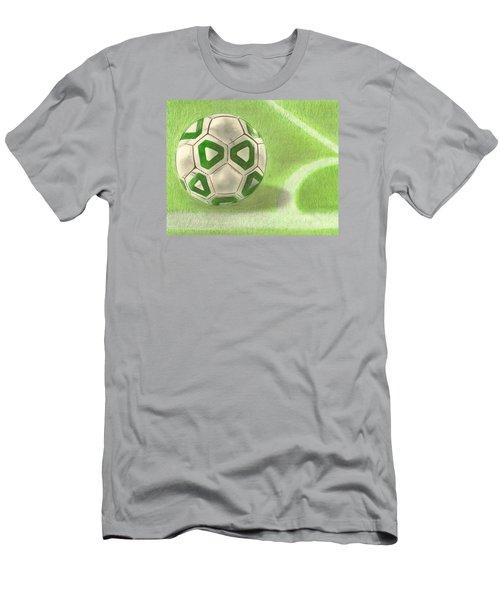 Corner Kick Men's T-Shirt (Slim Fit) by Troy Levesque