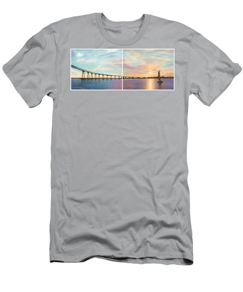 Coronado Bridge Sunset Diptych Men's T-Shirt (Athletic Fit)