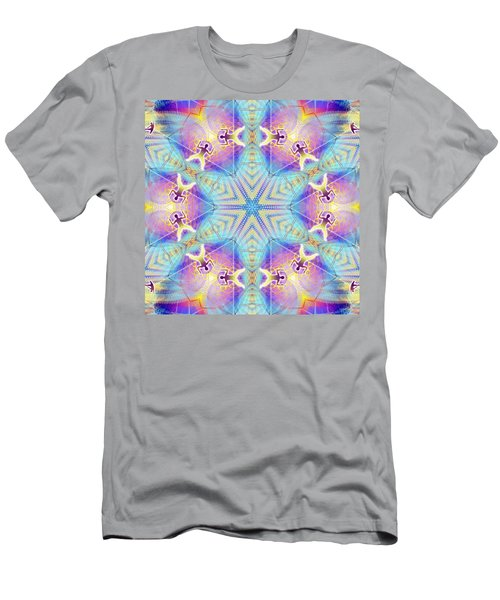 Cosmic Spiral Kaleidoscope 17 Men's T-Shirt (Athletic Fit)