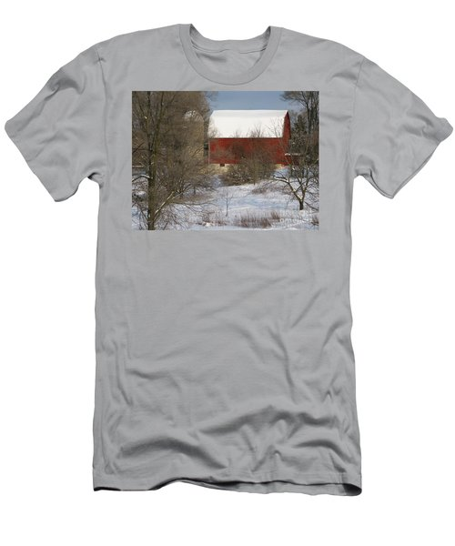 Men's T-Shirt (Slim Fit) featuring the photograph Country Winter by Ann Horn