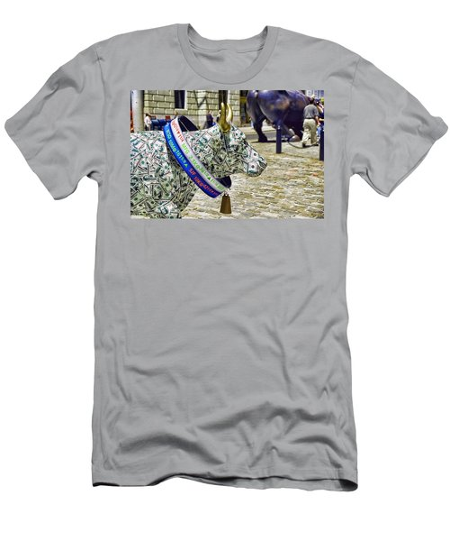 Cow Parade N Y C  2000 - Live Stock Cow Men's T-Shirt (Athletic Fit)